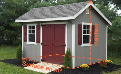 abri de jardin toit plat 20 m2